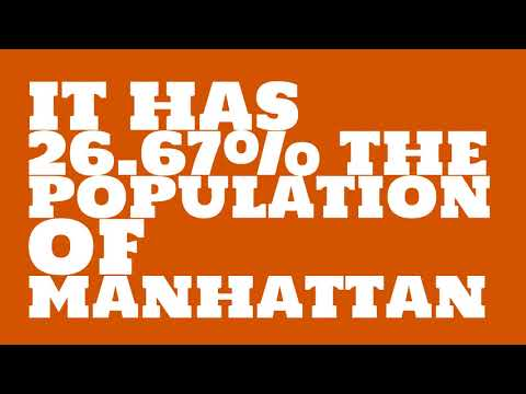 How does the population of Omaha, NE compare to Manhattan?