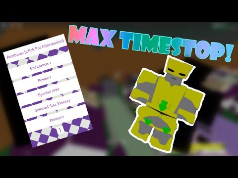 Project Jojo | Time Stopping TW With MAX Special! [PJJ]