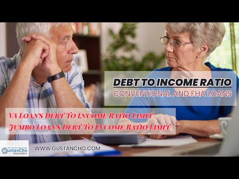 Debt To Income Ratios Conventional And FHA Loans