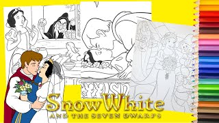 Coloring Disney Snow White & the Seven Dwarfs - Coloring Pages for kids