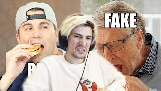 xQc Reacts to Feeding Bill Gates a Fake Burger (to save the world) | Mark Rober