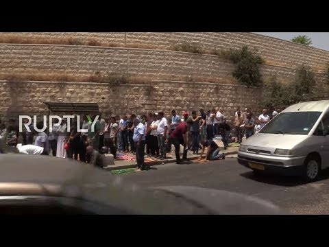 LIVE from Lion's Gate in Jerusalem following heightened security measures