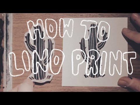 HOW TO : Lino Printing