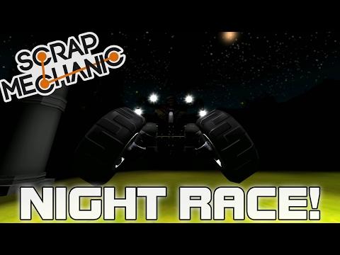 Lights Out Multiplayer Night Race! (Scrap Mechanic #123)