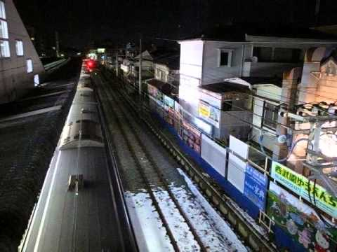 夜の小川駅 西武拝島線 Nighttime Ogawa Station - Seibu-Haijima Line 160126