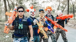 LTT Films : Silver Flash Nerf Guns Fight Criminal Group Tiger Mask Rescue The Victim