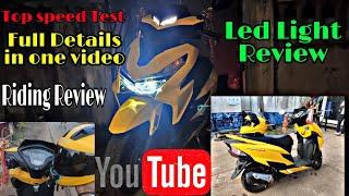 Honda Grazia Bs6 LED Light & Riding Review|| Grazia Bs6 Top speed Test  #GraziaBs6