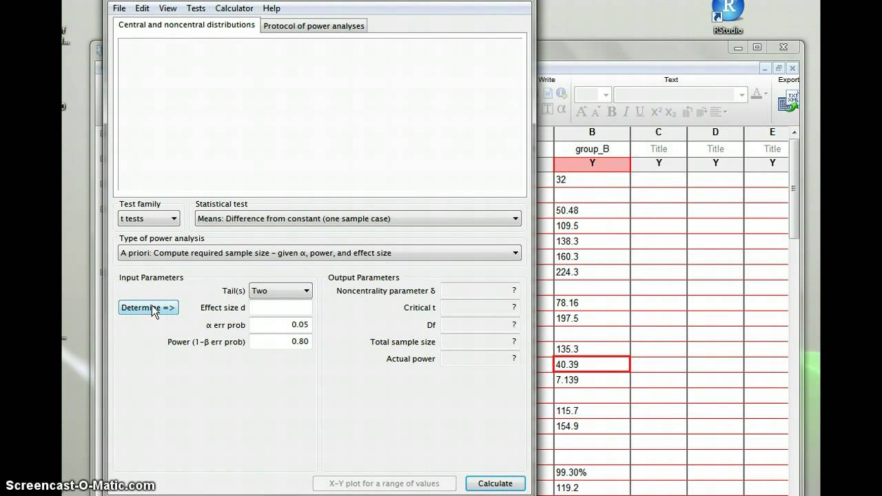 power analysis with GPower - YouTube