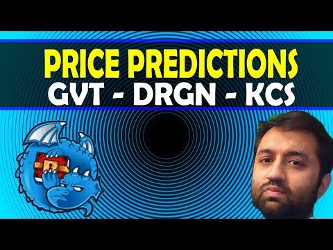 Price Predictions: Dragonchain ($DRGN), KuCoin ($KCS), Genesis Vision ($GVT)