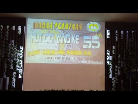 Worship 55th anniversary of evangelical church in Indonesia (GIDI) in Bali