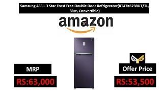 Samsung 465 L 3 Star Frost Free Double Door Refrigerator(RT47K6238UT/TL, Blue, Convertible)