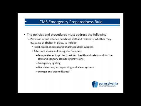 Emergency Preparedness, Are You Ready & Life Safety Code Update