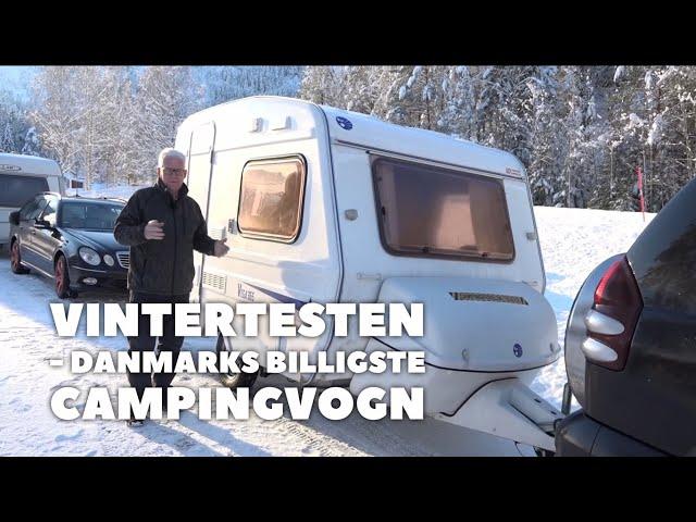 Vintertesten - Vega 365 (DK's billigste campingvogn) (Reklame)