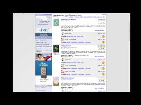 Downloading library ebooks for your Nook using Overdrive