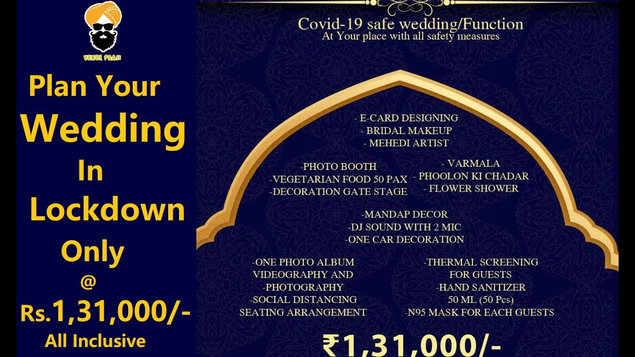Check Out Wedding Package In Lockdown Wedding Package During Covid 19 Lockdown Wedding In Delhi Youtube - Wedding Package, Complete Ithaca Wedding Package The Statler Hotel