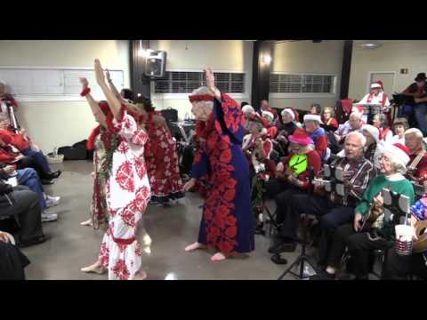 Christmas Island Hula Ukulele Ladies and Gents Perform at the Lions Field Xmas Jam