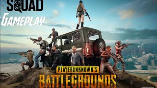 PUBG MOBILE playing with strangers squad gameplay