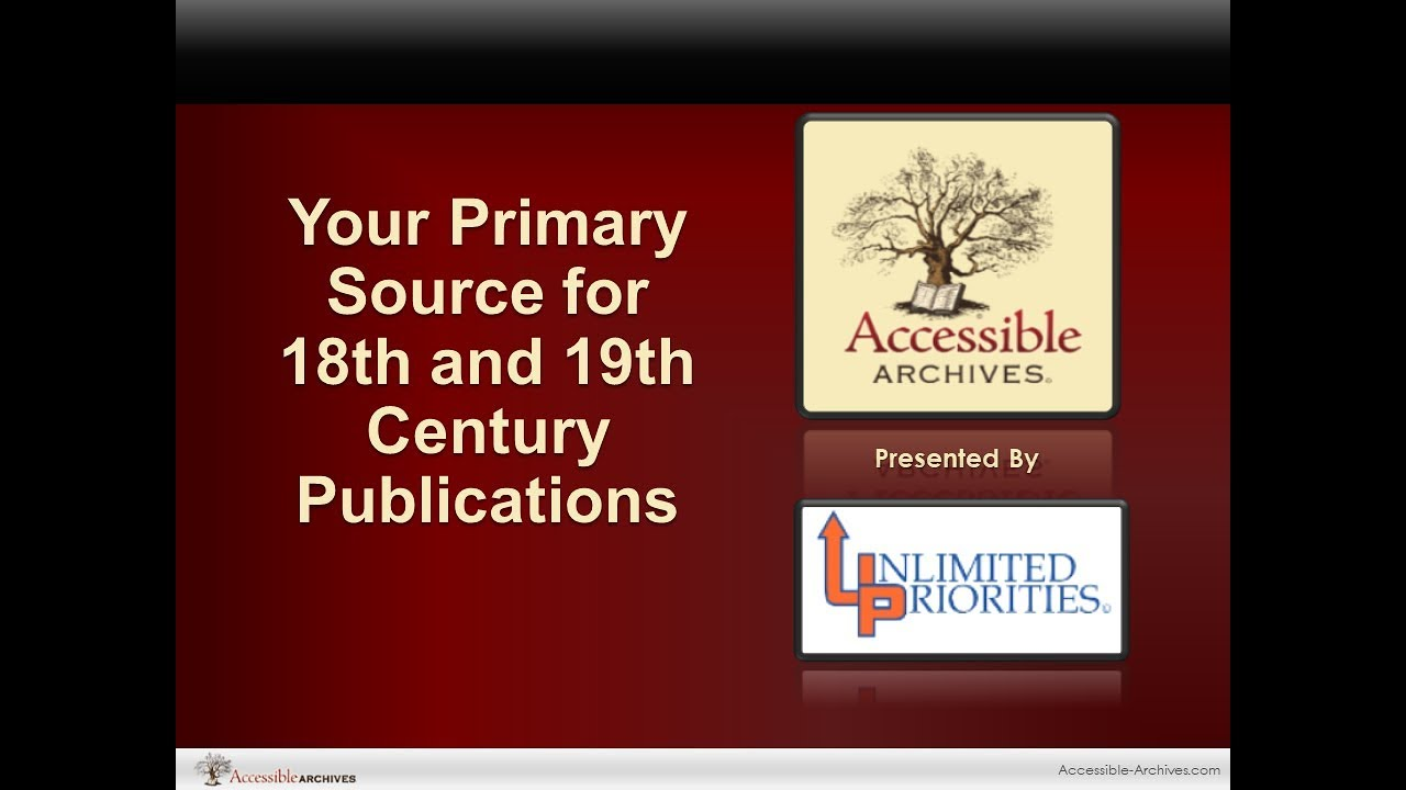 Full List of Accessible Archives Collections