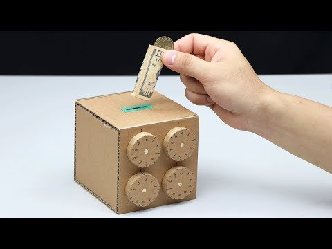 Wow! Amazing Safe Box 4 Digit Password DIY from Cardboard