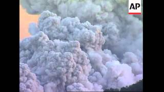 Clouds of deadly hot ash and gas shoot down slopes of volcano