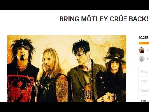 Will MÖTLEY CRÜE return? Will they tour under a different name? - petition started..!