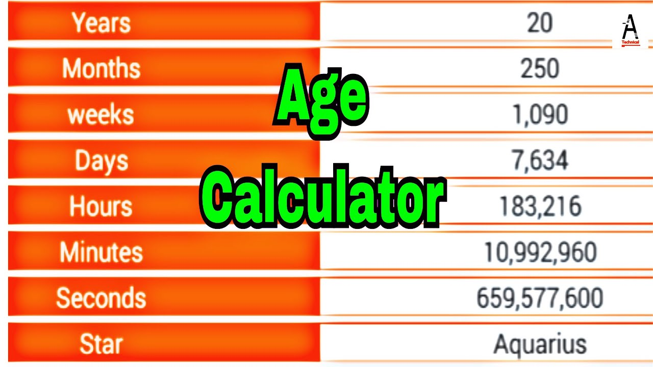 How to calculate your age in years/months/minutes/seconds accurately|Age  calculator|