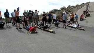 ditch slap 2009 Log Jam Dan Dengler Longboard paddle race on Worlds Biggest Longboards