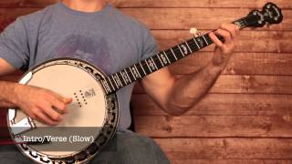 "Rascal Flatts ""Banjo"" Banjo Intro Banjo Lesson (With Banjo Tab)"