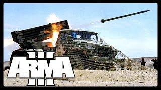 Arma 3 RHS -  БМ-21 ГРАД и Точка-У в действии