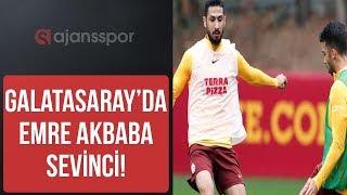 Galatasaray antrenmanı I Emre Akbaba ve Martin Linnes sahada I Top kapmaca