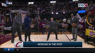breaking down xs and os of low post defense   cavs vs celtics