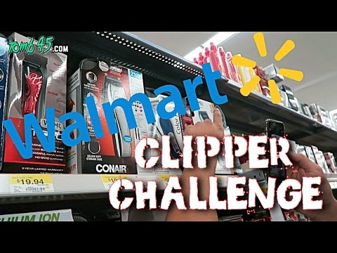 WALMART CLIPPER CHALLENGE! Barber Tutorial with Home Clippers!
