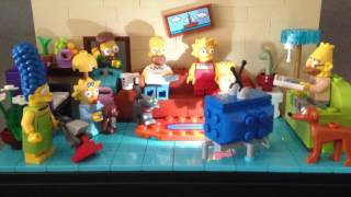 LEGO Simpsons Living Room with LED  Lite up Brick