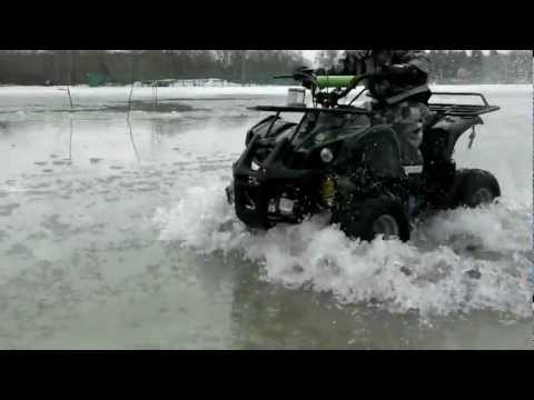 Егор квадроцикл лужа ATV Armada 50C 110cc kids & atv.avi