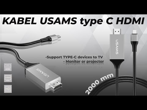 Connector Kabel Type C To HDMI USAMS 2M Cable