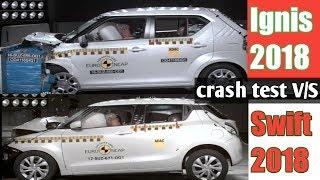Maruti suzuki Swift 2018 vs Ignis 2017   crash test   safety [Car Guru]