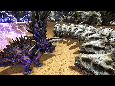 INDOMINUS REX Vs JUGGERNAUGHT 32 In ARK!!  - ARK Survival Evolved