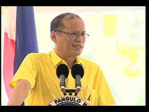 President Aquino speaks about the P5.3-billion water improvement project in Angat Dam