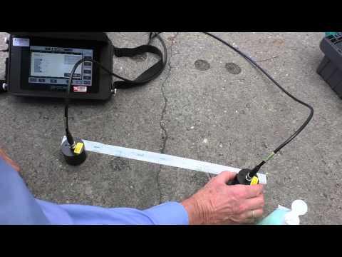 Determine Concrete Crack Depth Using The Proceq PL-200PE