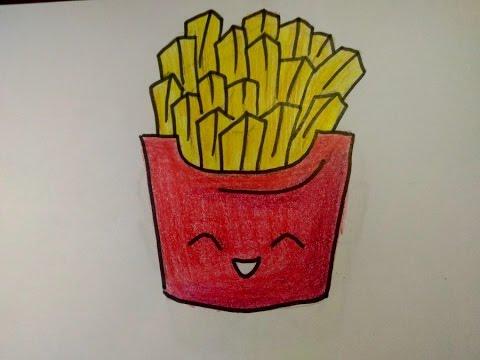 Como Desenhar Batata Frita Fofa Simples Facil Youtube
