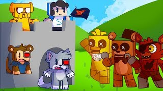 ¡RETO DE LA BASE VS ANIMATRÓNICOS FIVE NIGHTS AT FREDDY'S! 😱🐻 - MINECRAFT FNAF CON MIKECRACK