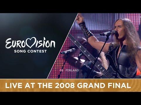 Teräsbetoni - Missä Miehet Ratsastaa (Finland) Live 2008 Eurovision Song Contest