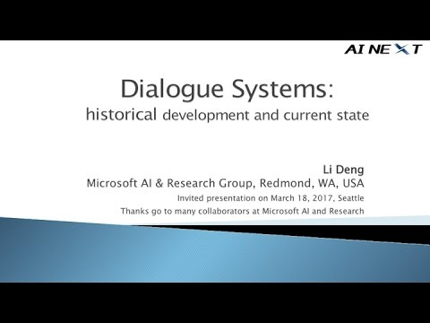 Dialogue Systems at AI NEXT conference