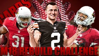 Johnny Manziel Rebuild! Realistic Rebuilding of The Arizona Cardinals | Madden 18 Franchise 2017 Video