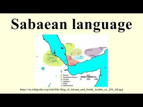 Sabaean language