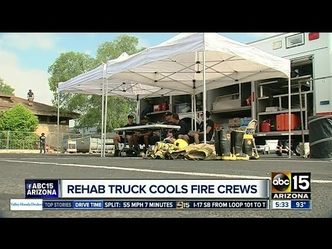 Firefighters stay safe in extreme heat with special 'rehab truck'