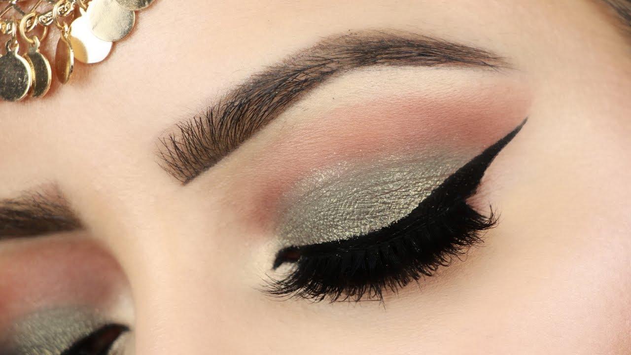 indian wedding guest eye makeup tutorial(हिन्दी)| olive green smokey eye  look | deepti ghai sharma
