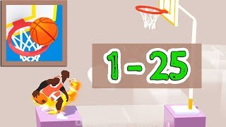Perfect Dunk 3D Game Walkthrough Level 1 - 25