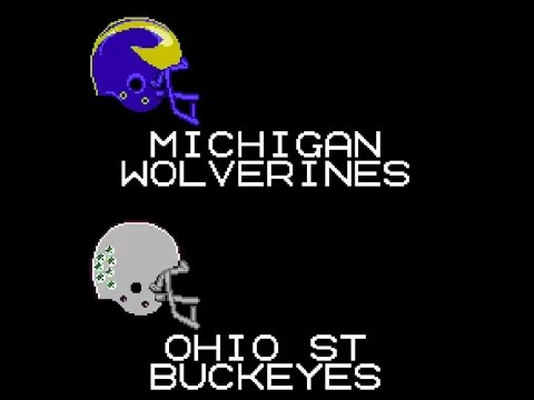 2016 Michigan @ Ohio State Tecmo Bowl Highlights