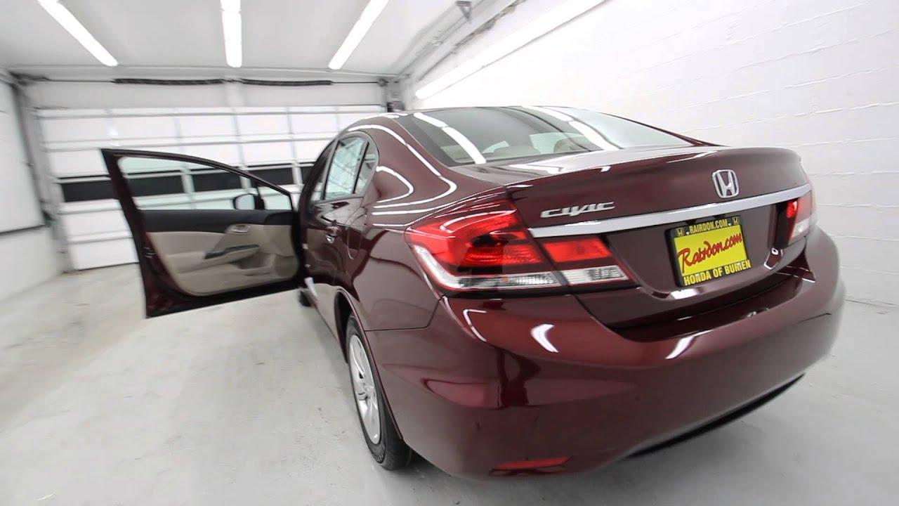 2014 Honda Civic LX   Crimson Pearl   EE234499   Seattle   Renton - YouTube